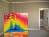 Atlanta Home Inspector Finds Plumbing Leak With Infrared Thermal Imaging Camera In Home Located In Marietta, GA